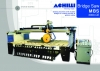 Sawing machine with mobile bridge for cutting marble , granite slabs