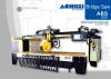 Automatic sawing machine with mobile bridge for cutting marble , granite slabs