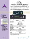 Model 2400 SF Series Tunable, Single-Frequency, Mid-Infrared Source Widely tunable, high-power, CW OPO for spectroscopy