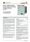 Power quality interface for low, medium and high voltage networks Type PQI-D