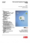 ABB Measurement Products-TTF300 - Field mounted Temperature Transmitter, HART, Pt 100 (RTD), thermocouples, electrical isolation
