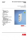 ABB Measurement Products-TTR200 - Rail mounted Temperature Transmitter, HART, Pt100 (RTD), thermocouples, electrical isolation