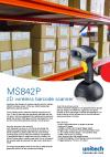 MS842P 2D wireless barcode scanner